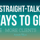 5 ways to get more clients www.amandablum.com