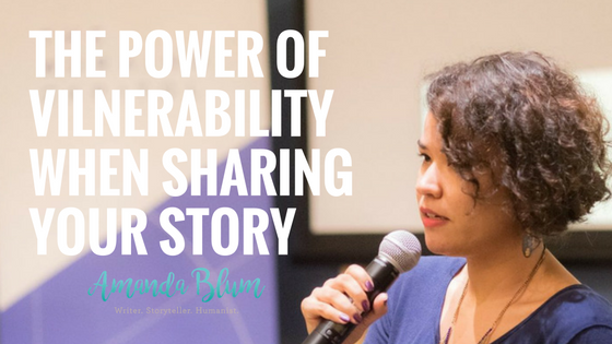 Vulnerbility when sharing your story